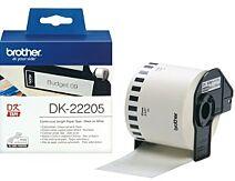 Brother DK-22205 DK-rulle / 62mm / Hvid papirtape