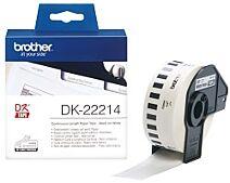 Brother DK-22214 DK-rulle / 12 mm. / Hvid papirtape