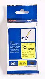 Brother TZEFX621 TZ-tape / 9mm / Sort Tekst / Gul Tape