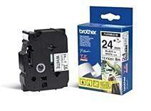 Brother TZeFX651 TZe-tape / 24 mm / Sort Tekst / Gul Tape