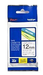 Brother TZEM31 TZ-tape / 12mm / Sort Tekst / Gennemsigtig Mat Tape