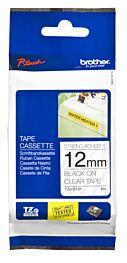Brother TZES131 TZ-tape / 12mm  / Sort Tekst / Klar Tape