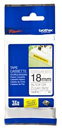 Brother TZES141 TZ-tape / 18mm / Sort Tekst / Klar Tape
