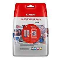 Canon CLI-571XL B/C/M/Y Multipack + Paper Original