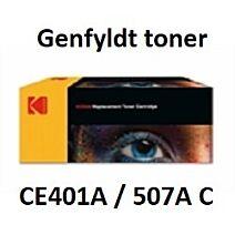 CE401A / 507A Cyan Genbrug-Miljøvenligt