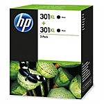 HP black 301XL sampak 2 stk. Original