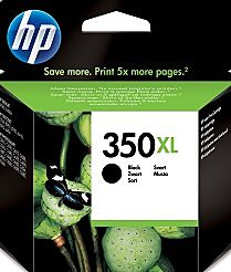 HP 350XL Sort Blækpatron Original