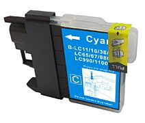 LC980/LC1100C cyan printerpatron Kompatibel