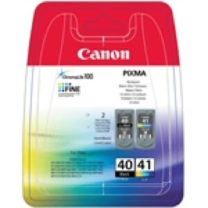 Canon PG-40 & CL-41 Black & Color Original