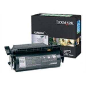 Lexmark 12A6860 Sort Lasertoner Original