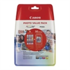 Canon CLI-521 Value Pack CMYPB + Paper Original