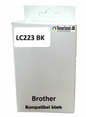 Brother LC223 BK Sort Kompatibel