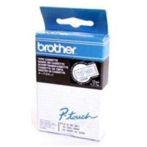Brother TC103 TC-tape / 12mm. / Blå tekst / Klar tape