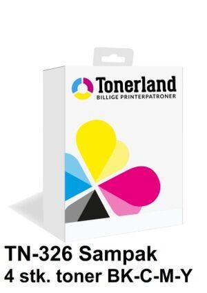 TN326 sampak 4 stk. toner kompatibel