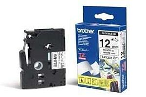 Brother TZEFX231 TZ-tape /12 mm./Sort Tekst /Hvid Tape