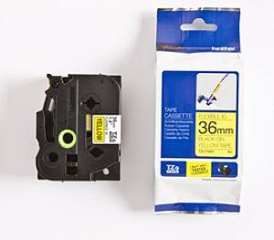 Brother TZEFX661 TZ-tape / 36mm / Sort Tekst / Gul Tape