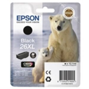 Epson 26XL Sort Printerpatron Original