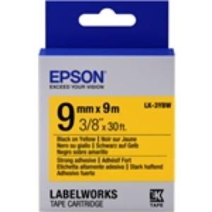 Epson LK-3YBW / 9mm / Sort Tekst / Yellow Tape