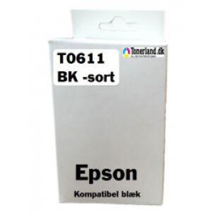 Epson T061140 Sort Blækpatron kompatibel