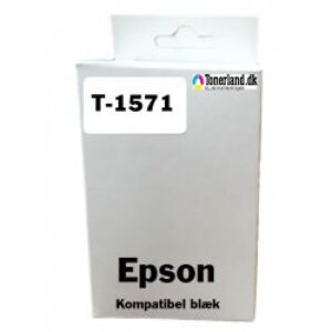 Epson T1571 Foto Sort Blækpatron kompatibel