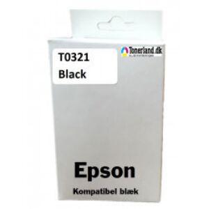 Epson T0321 Sort Blæk kompatibel
