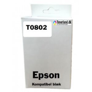 Epson T0802 Cyan Blækpatron kompatibel