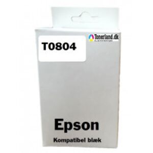 Epson T0804 Yellow Blækpatron kompatibel