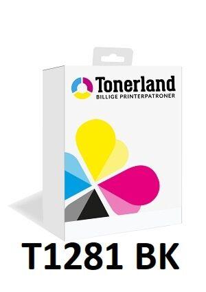 Epson T1281 Sort blæk Kompatibel