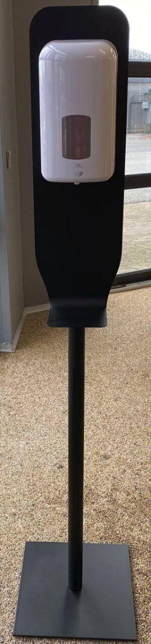 Håndfri Dispenser til håndsprit med sort stander