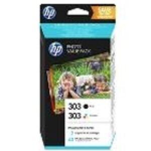HP 303 Sampak - 303BK og 303CMY + Paper Original