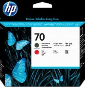 HP 70 Matt Sort & Rød Printhead Original
