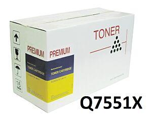 HP Q7551X Sort Toner Kompatibel