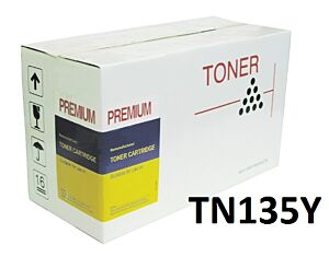 Brother TN135Y Gul Toner kompatibel