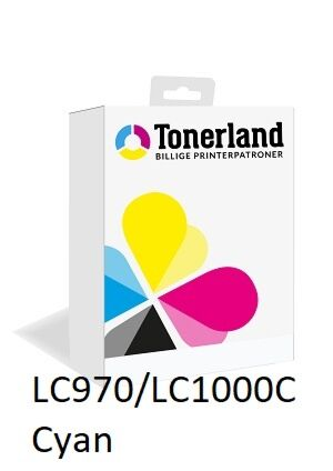 LC970/LC1000C Cyan printerpatron Kompatibel