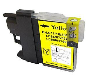 LC980/LC1100Y Yellow printerpatron Kompatibel