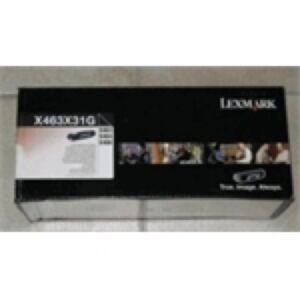 Lexmark X463X31G Sort Lasertoner HC Original
