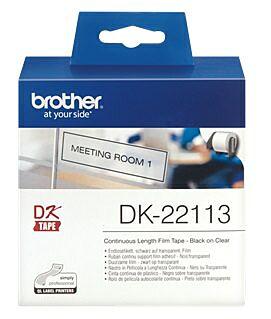 Brother DK-22113 DK-rulle / 62mm  / Klar plastiktape