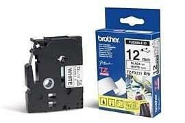 Brother TZEFX231 TZ-tape /12 mm./Sort Tekst /Hvid Tape
