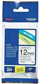 Brother TZEN231 TZ-tape /12 mm/ Sort Tekst / Hvid Tape uden laminering