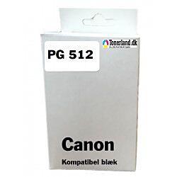 Canon 512 Sort Blækpatron PG-512 kompatibel