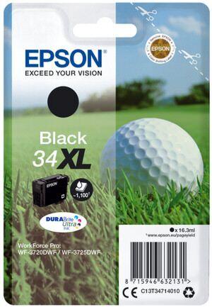 Epson 34XL Sort Printerpatron Original
