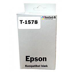 Epson T1578 Matt Sort Blækpatron kompatibel