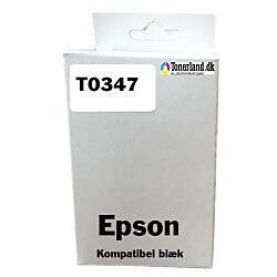 Epson T0347 Lys Sort Blækpatron T034740 kompatibel