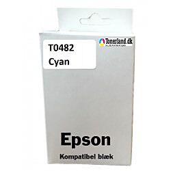Epson T0482 Cyan Blæk kompatible