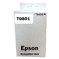 Epson T0801 Sort Blækpatron kompatibel