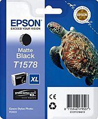 Epson T1578 Matt Sort Blækpatron Original