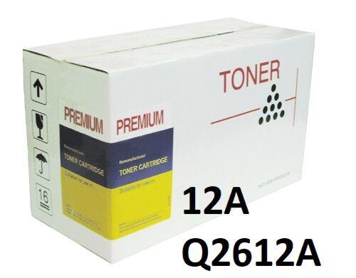 HP 12A Sort Toner Q2612A Kompatibel