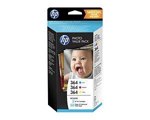 HP 364 C/M/Y Printerpatroner Original T9D88EE