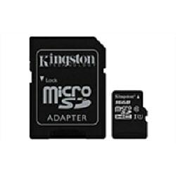 Kingston MicroSDHC 16GB CL10 + Adapter