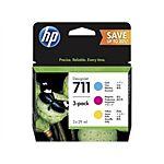HP 711 C/M/Y Printerpatroner P2V32A Original